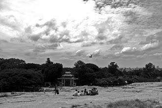 Photo: View from the top of the rocky mount across Lalbagh Park, Bangalore