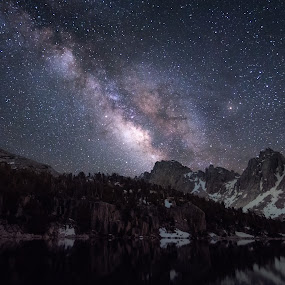 Summer Nights in the Eastern Sierra by Ruben Parra - Landscapes Mountains & Hills ( kings canyon, milky way, mountains, astrophotography, backpacking, nightscape, california, eastern sierra, stars, galaxy, landscape,  )