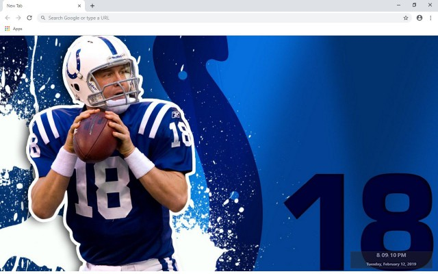 NFL Indianapolis Colts New Tab Theme