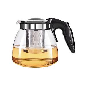 Ceainic cu sita infuzor din inox si sticla 900 ml