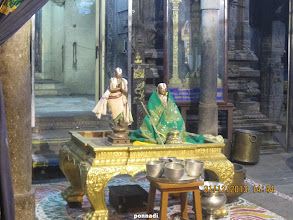 Photo: thoNdaradippodi AzhwAr and emperumAnAr - before thirumanjanam