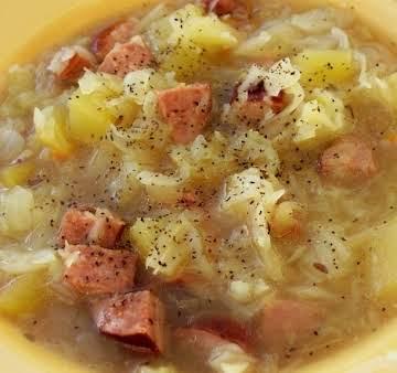 Cabbage, Sausage and Potato Soup - Instant Pot