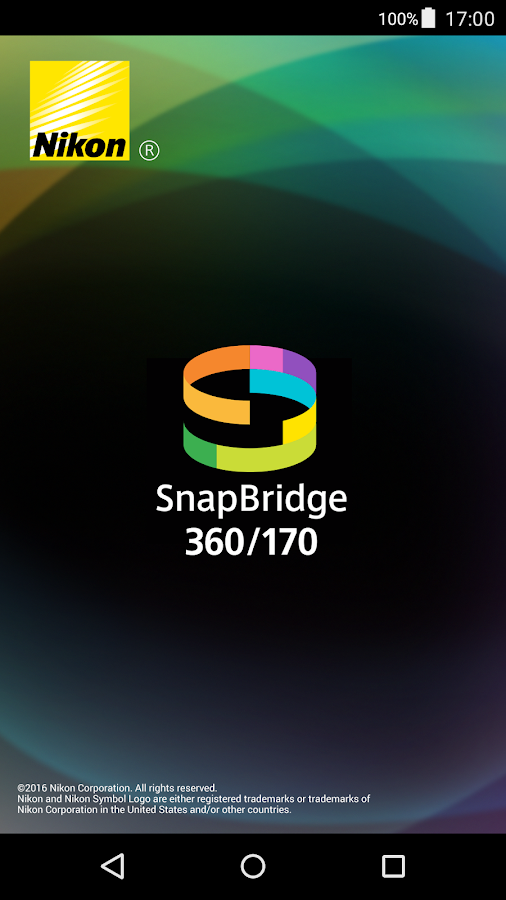 SnapBridge 360/170 – Screenshot