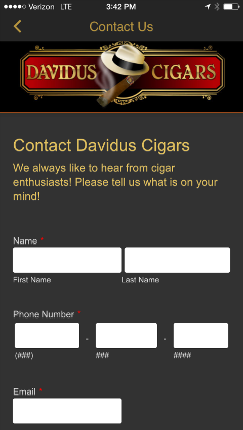 Davidus Cigars- screenshot