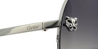 Cartier Panthere Pilot CT0065S 003 Silver Sunglasses | Pretavoir
