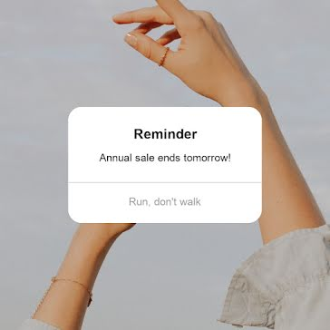 Sale Reminder - Instagram Post Template