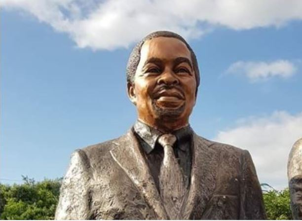 The statue of former ANC president Thabo Mbeki.
