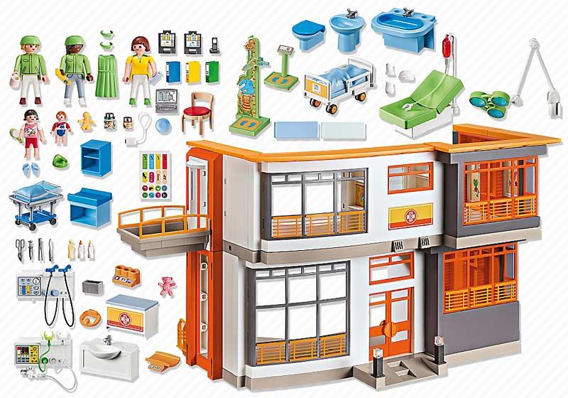 Contenido Real de Playmobil® 6657 Hospital Infantil