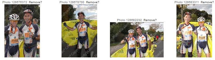 Photo: Vignettes photos de course de Bertrand.