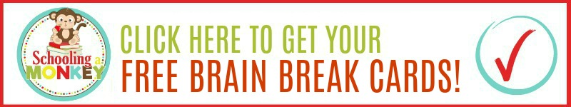 brain break cards for kids