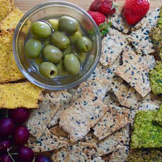 Homemade Vegan Oat Crackers.