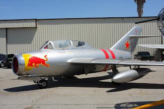 Photo: Mig-15 UTI s červenou krávou
