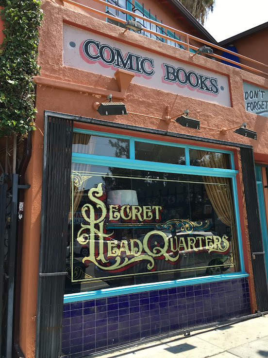 The not-so-Secret Headquarters comic book store