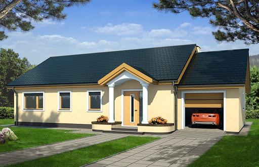 projekt Emma 2 energo + wersja A pojedynczy garaż