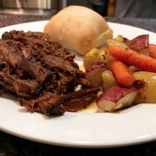 Slow Cooker Balsamic Shredded Beef.