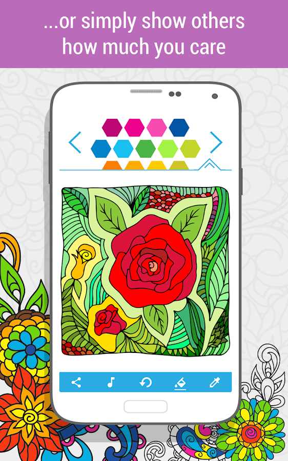 Coloring Book For Adults HoliColoring Screenshot