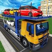 City Car Transporter Trailer Sim: Truck Games