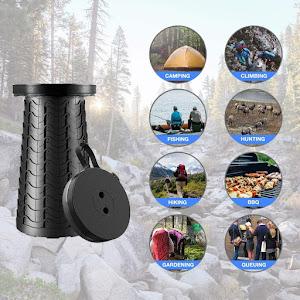 Scaun extensibil cu pliere telescopica, pentru camping