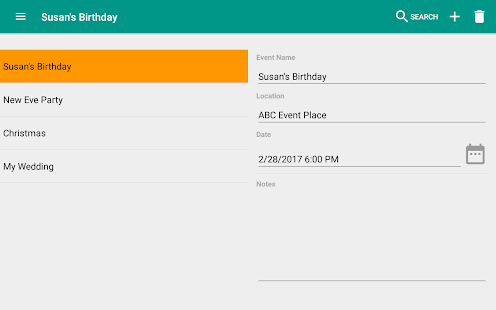 Event Planner (Party Planning) Screenshot