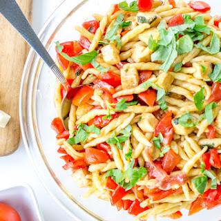 Tomato, Mozzarella, Prosciutto Pasta.