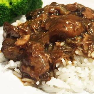 Crockpot Beef Tips with Mushrooms.