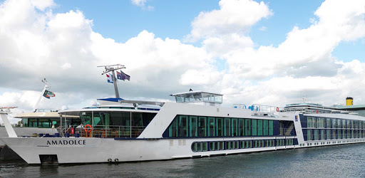 amadolce-docked.jpg - AmaDolce from AmaWaterways journeys through France's Bordeaux region.