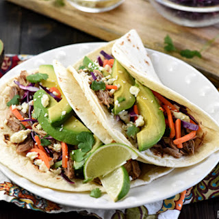 Slow Cooker Honey Lime Pulled Pork Tacos