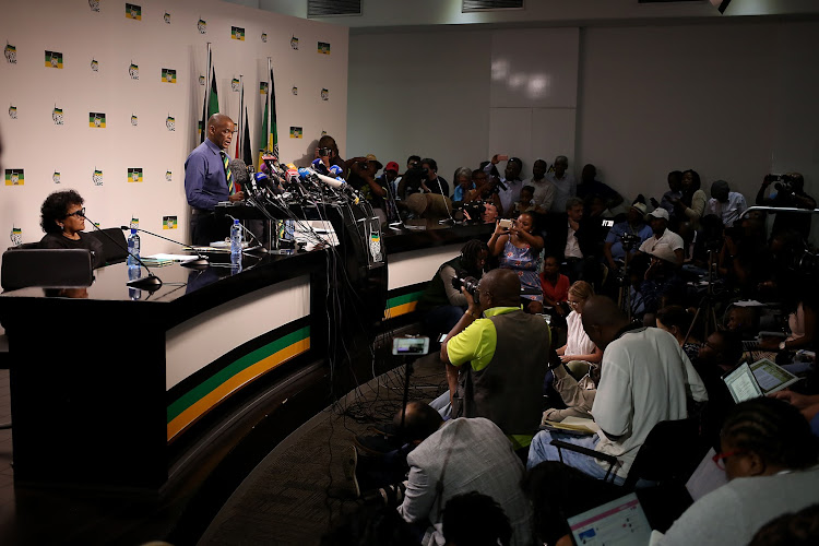 ANC Secretary-General Ace Magashule convenes media briefing on the recall of President Jacob Zuma.