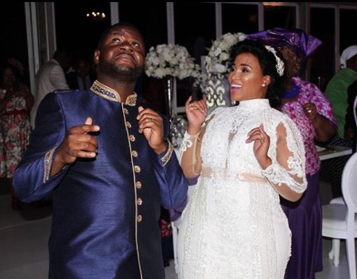 Reggie Nkabinde and his wife, Beauty Matela are goals.