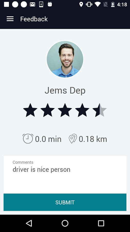 Drivern Passenger,  Driven app- screenshot