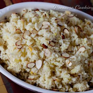 Saffron Almond Rice Pilaf.