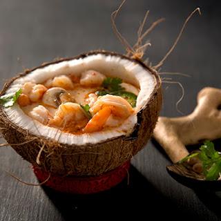Shrimp Coconut Curry Soup.