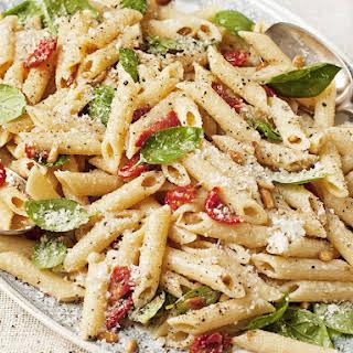 Pesto and Sundried Tomato Pasta.