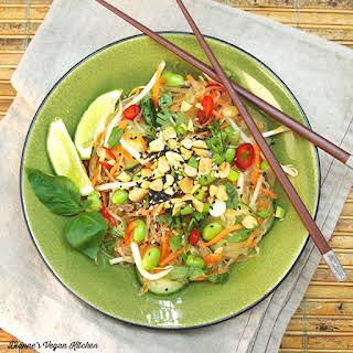 Vegan Thai Noodle Salad.