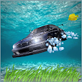 City Underwater Floating Car