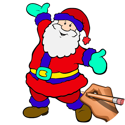Weihnachtsbilder Elch.Learn To Draw Christmas Draw Color Book Pages Apps Bei Google Play