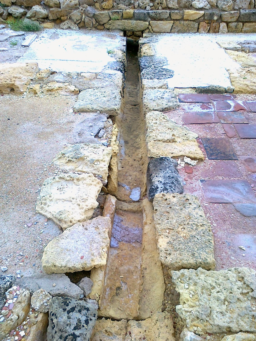 Remains of drainage system