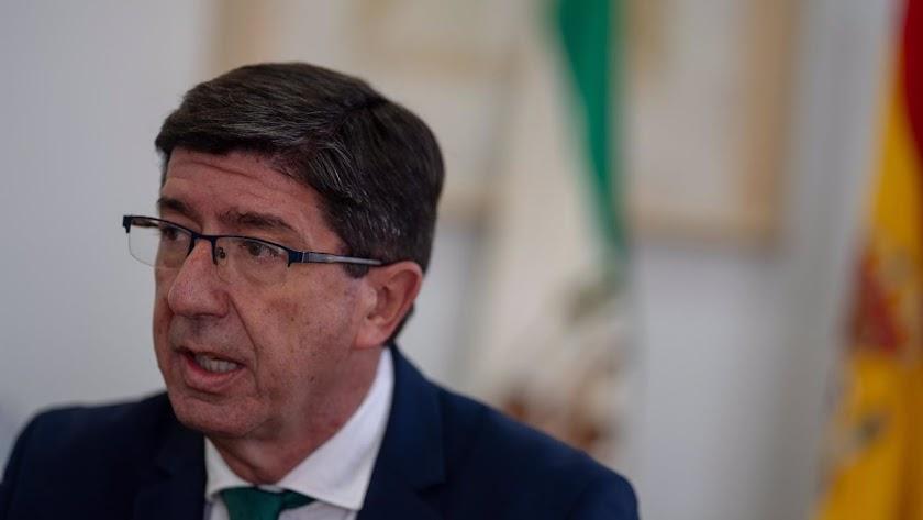 Juan Marín insiste en el confinamiento domiciliario.