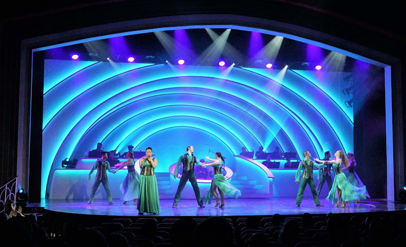 A look at the Center Stage production in the Main Theater of Mariner of the Seas.