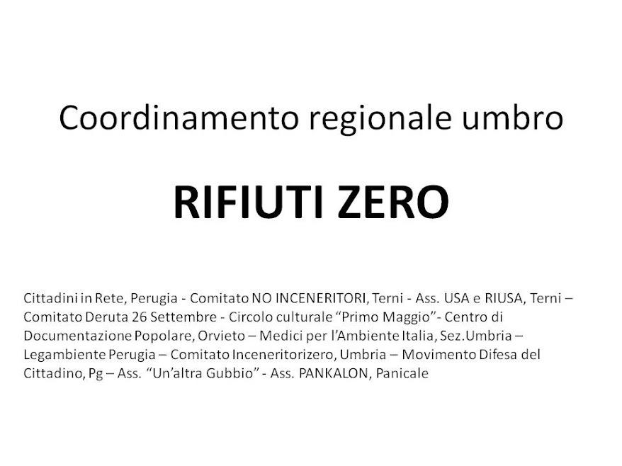 CRURZ: Conferenza Stampa Coordinamento Regionale Riufiti Zero - 30 giugno 2012
