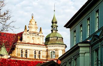 Photo: Giebel mit italienischer Renaissance am Schloss der ehemaligen Residenzstadt zu Güstrow