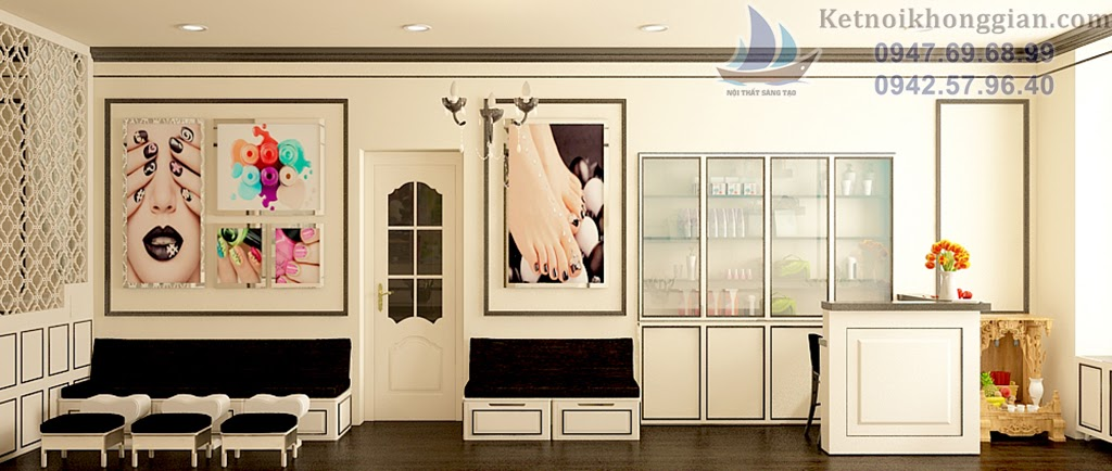 thiết kế cửa hàng nail chất lượng cao