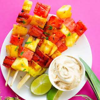 Grilled Watermelon Pineapple Skewers.