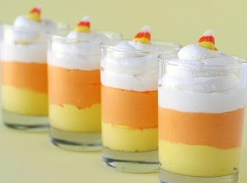 Candy Corn Cheesecake Mousse Recipe