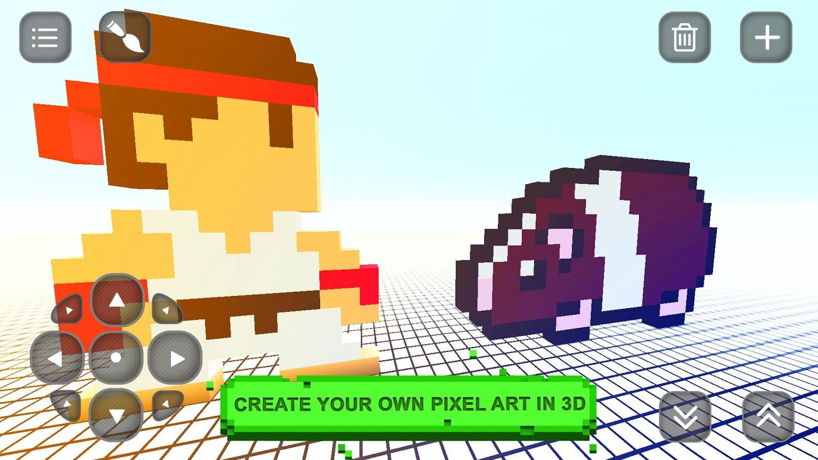 Color craft 3d pixel art maker android apps on google play for 3d art maker online