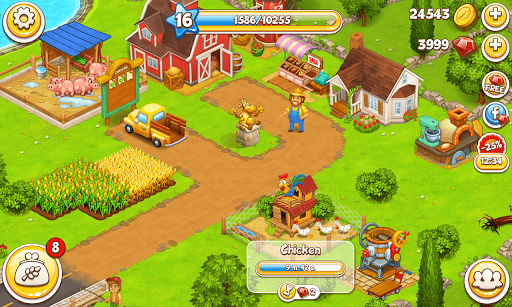 Farm Town: Happy farming Day & with farm game City  gameplay | by HackJr.Pw 8