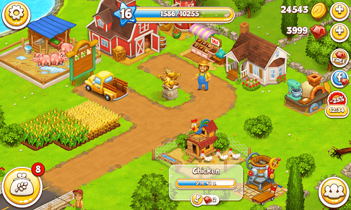 Farm Town: Happy farming Day & food farm game City 8