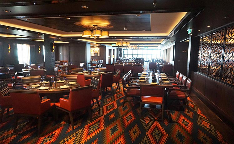 A look at the Los Lobos restaurant on Norwegian Bliss