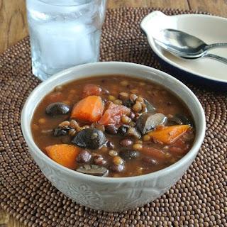 Slow Cooker Lentil Vegetable Soup.