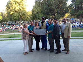 Photo: Accepting check was Rafer Johnson w/ Cynthia Andrachick, Alon Ben - Nun, Janice Wendt and Simon Asheroff